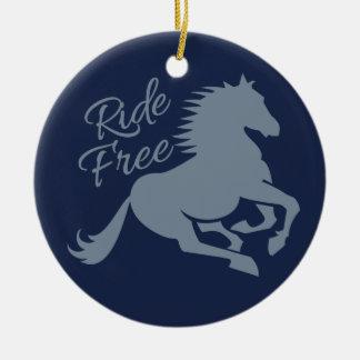 Ride Free custom ornament