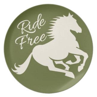 Ride Free custom plate