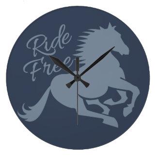 Ride Free custom wall clock