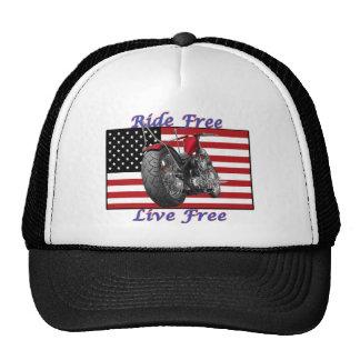 Ride Free Live Free Trucker Hat