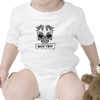 Ride Free Spiked Skull Baby Bodysuit