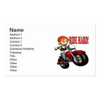 Ride Hard Business Card Template