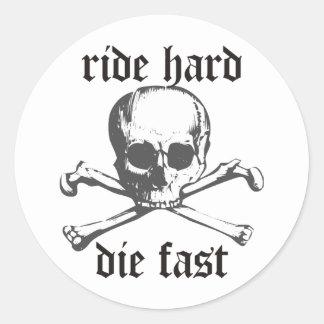 Ride Hard Classic Round Sticker