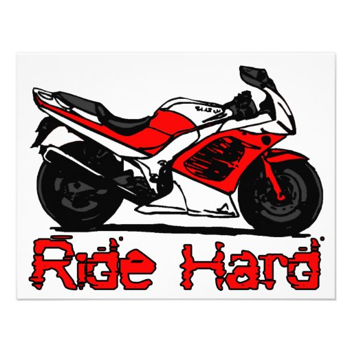 Ride Hard Personalized Invite