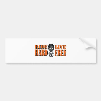 Ride Hard Live Free Bumper Sticker