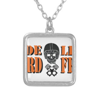 Ride Hard Live Free Silver Plated Necklace