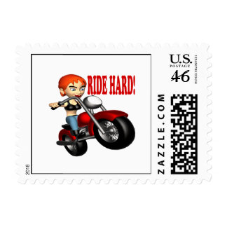 Ride Hard Postage Stamps