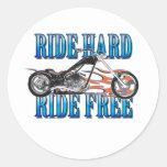 Ride Hard Stickers
