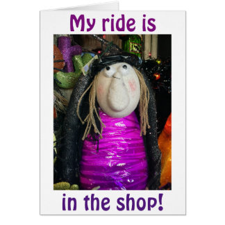 RIDE IN SHOP/COULD NOT MISS SAYING HAPPPY BIRTHDAY CARD