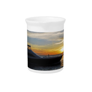 Ride into the sunset beverage pitcher