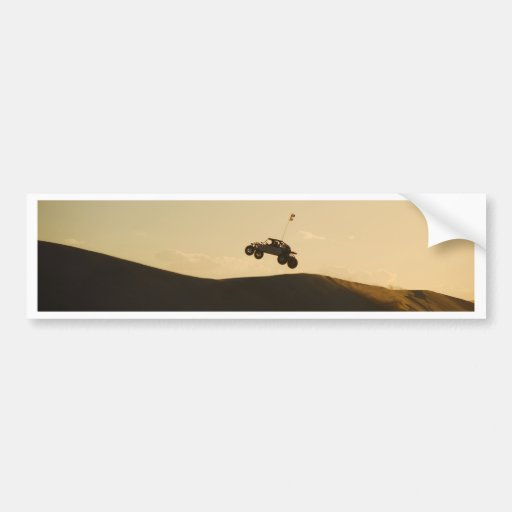 Ride into the Sunset Car Bumper Sticker