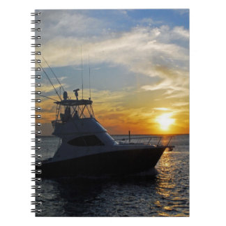 Ride into the sunset spiral notebook