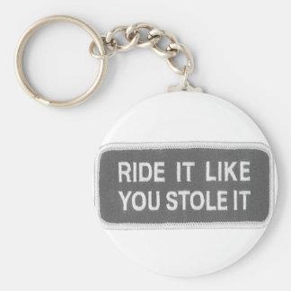 Ride it Like you Stole it Keychain
