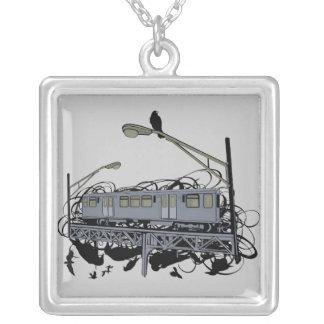 Ride It Urban El Train Necklace