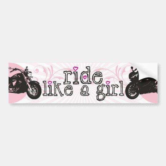 Ride Like A Girl Bumper Sticker