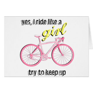 Ride Like a Girl Cards