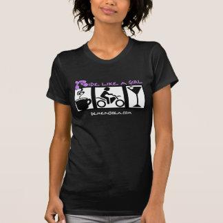 ride like a girl-coffee-ride-martini! tshirt