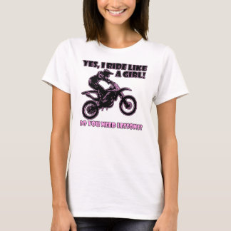 Ride Like A Girl Dirt Bike Motocross T-Shirt