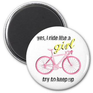 Ride Like a Girl Fridge Magnet