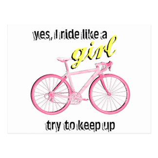 Ride Like a Girl Postcard
