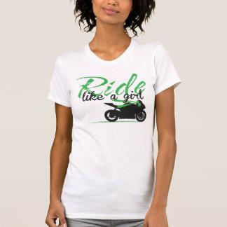 Ride Like A Girl - Tropic Green T-Shirt