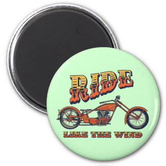 Ride Like the Wind 2 Inch Round Magnet