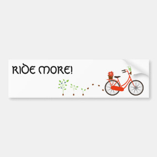 Ride More! Bumper Stciker Bumper Sticker