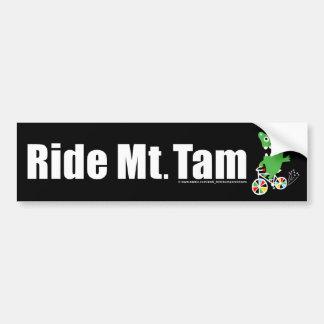 Ride Mt Tam - Black Bumper Sticker