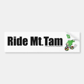 Ride Mt Tam - white Bumper Sticker