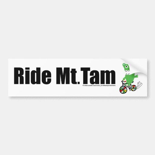 Ride Mt Tam - white Car Bumper Sticker