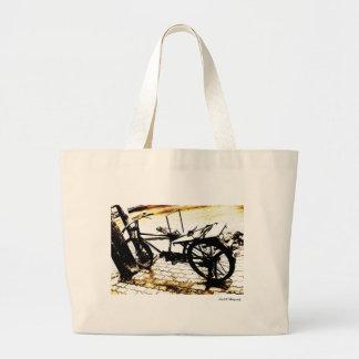 Ride my bike canvas bag