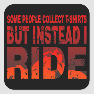 Ride not Collect Sticker