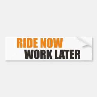 ride now bumper sticker