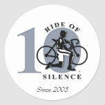 Ride Of Silence 10th Annual Commemoration Sticker