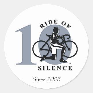 Ride Of Silence 10th Annual Commemoration Sticker