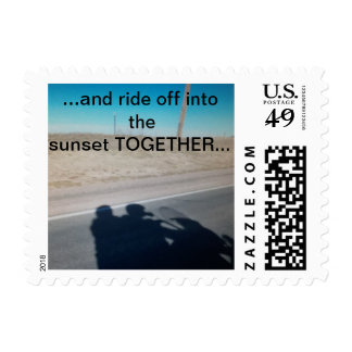 Ride off into the sunset... postage stamp