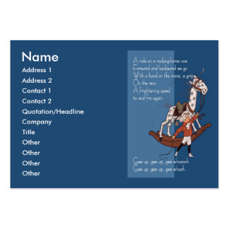 Ride on a Rocking Horse Large Business Cards (Pack Of 100)