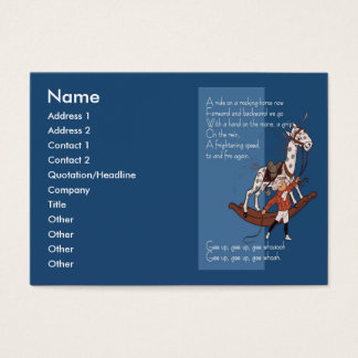 Ride on a Rocking Horse Business Card