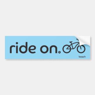 Ride On™ Beach Bumper Sticker