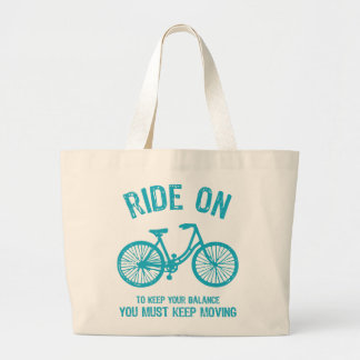 Ride On Bicycle Large Tote Bag