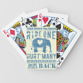 Ride One Elephant Hurt Many Bicycle Playing Cards