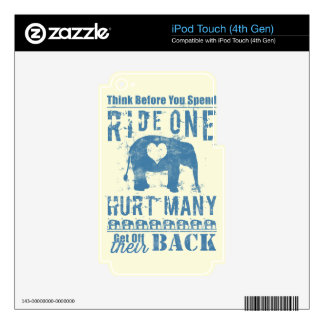 Ride One Elephant Hurt Many iPod Touch 4G Skins
