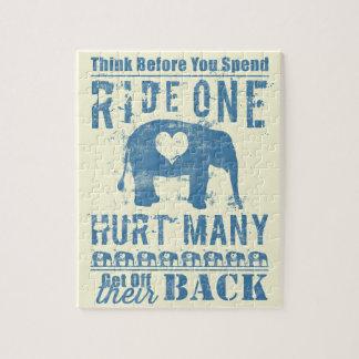 Ride One Elephant Hurt Many Jigsaw Puzzle