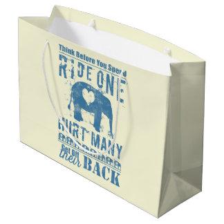 Ride One Elephant Hurt Many Large Gift Bag