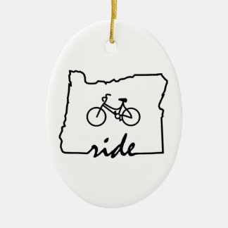 Ride Oregon (Cycling) Ceramic Ornament