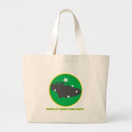 Ride Pimpin Merit Badge Tote Bags