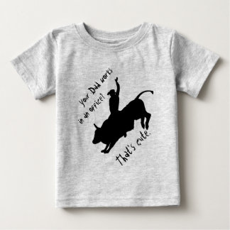 Ride Rank Bull Riding Rodeo Cowboy Up Baby T-Shirt