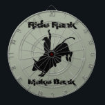 "Ride Rank Bull Riding Rodeo Cowboy Up Dart Board<br><div class=""desc"">Ride Rank Make Bank. Cowboy Up. 8 Second Ride. Many Different Bull Riding Rodeo Cowboy Designs and Quotes in my store.</div>"