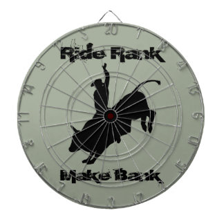 Ride Rank Bull Riding Rodeo Cowboy Up Dart Board