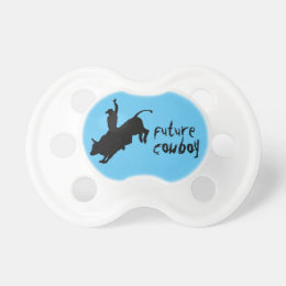 Ride Rank Bull Riding Rodeo Cowboy Up Pacifier